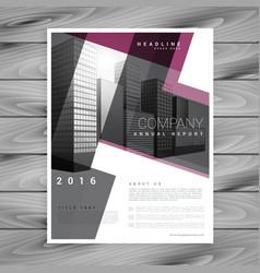 Geometric brochure flyer design template vector