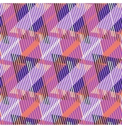 Geometric pattern with striped triangles vector image