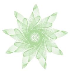 green abstract mandala vector image