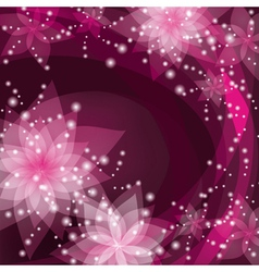 Greeting or invitation card abstract floral vector image
