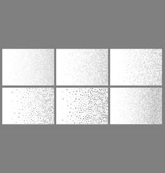 halftone abstract gradient random dots backgrounds vector image