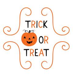 Halloween trick or treat card vector