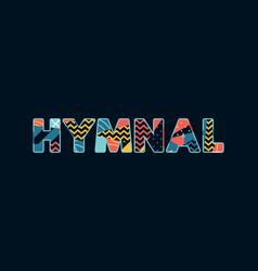 Hymnal concept word art vector