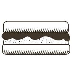 isolated sandwich sketch vector image