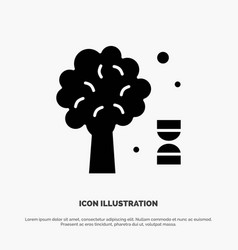 Knowledge dna science tree solid glyph icon vector