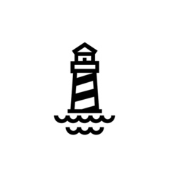 Lighthouse Icon Flat vector