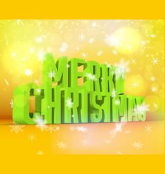 Merry christmas green wording vector