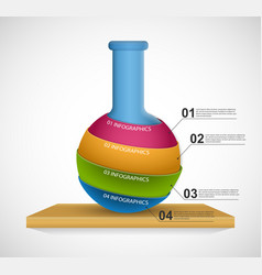 modern infographic on science and medicine in the vector image