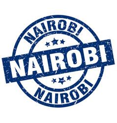 Nairobi blue round grunge stamp vector