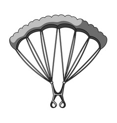 Parachutingextreme sport single icon in vector