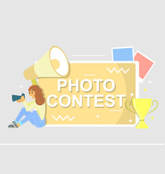 photo contest poster flat style design vector image