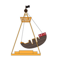 Pirate ship ride vector