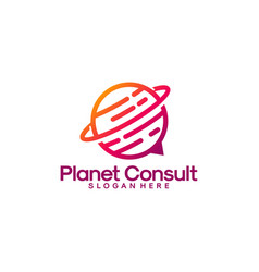 planet consult logo designs consulting place vector image