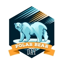 Polar Bear Day vector image