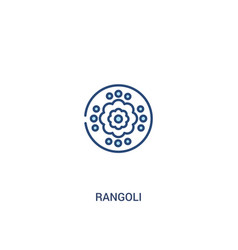 Rangoli concept 2 colored icon simple line vector