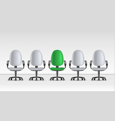 realistic detailed 3d vacant chairs set vector image