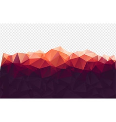 Red Mountain Polygon Background vector