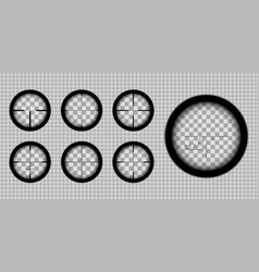 rifle scope reticles vector image