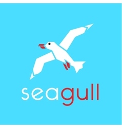 Seagull logo in stylish trend vector image