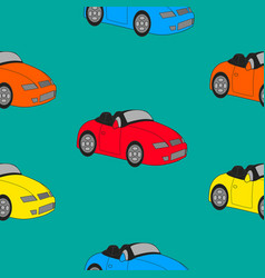 seamless texture of sports cars vector image vector image
