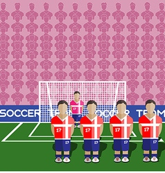 Serbia Soccer Club Penalty on a Stadium vector