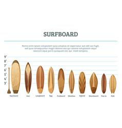 set different hawaiian surfboards vector image