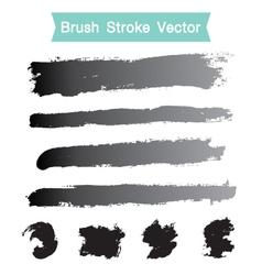 Set of grunge brush stroke vector