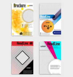 set of template design layout brochure geometric vector image