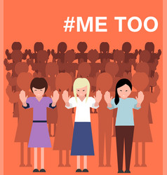 Sexual harassment poster with women vector