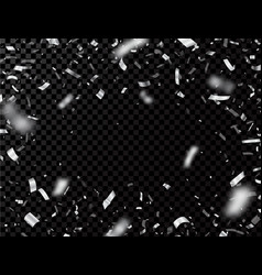 Silver confetti isolated on transparent background vector
