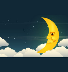 Smiling moon vector