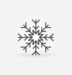 Snowflake line icon vector