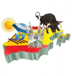 Spanish tourist attractions vector