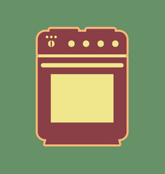 Stove sign cordovan icon and mellow vector