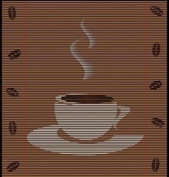 Straw mat cup of coffee vector