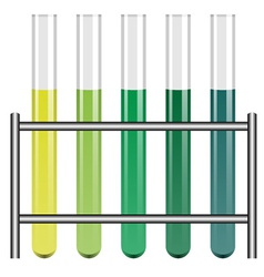 Test tubes in holder vector