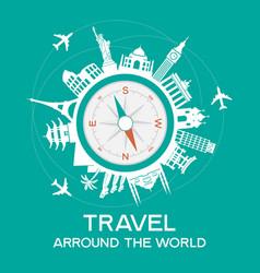 travel famous landmarks vector image