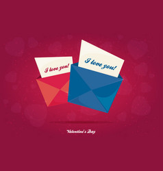 Valentines day flat pink background vector