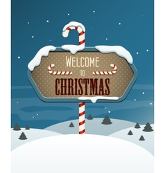 Welcome to Christmas vector image
