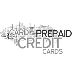 a credit free card what is a prepaid credit card vector image vector image