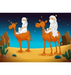 Arabs on camel vector