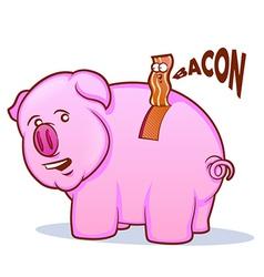 Bacon Pig vector image vector image