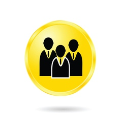 button of business man vector image vector image
