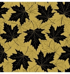 Fall leaf seamless pattern Autumn foliage vector image