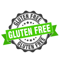 gluten free stamp sign seal vector image