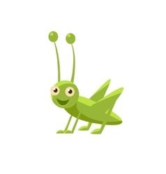 Happy Grasshopper Icon vector image