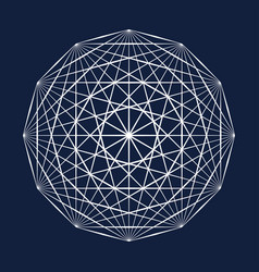 Sacred geometry symbol vector