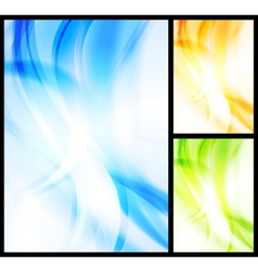 set of bright wavy backgrounds vector image