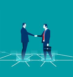 businessman shaking hands concept business vector image