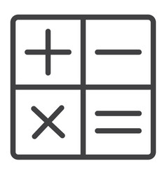 calculator line icon web and mobile calculate vector image